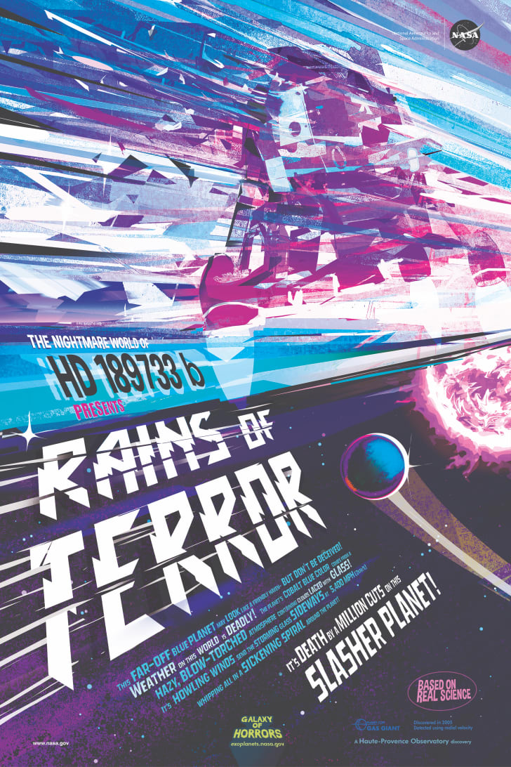 nasa galaxy of horrors exoplanet poster