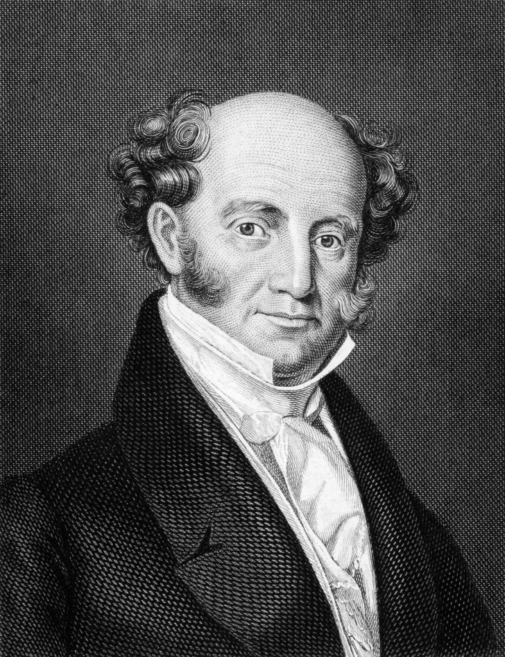 Martin Van Buren (1782-1862) on engraving from 1859. 8th President of the United States during 1837-1841.