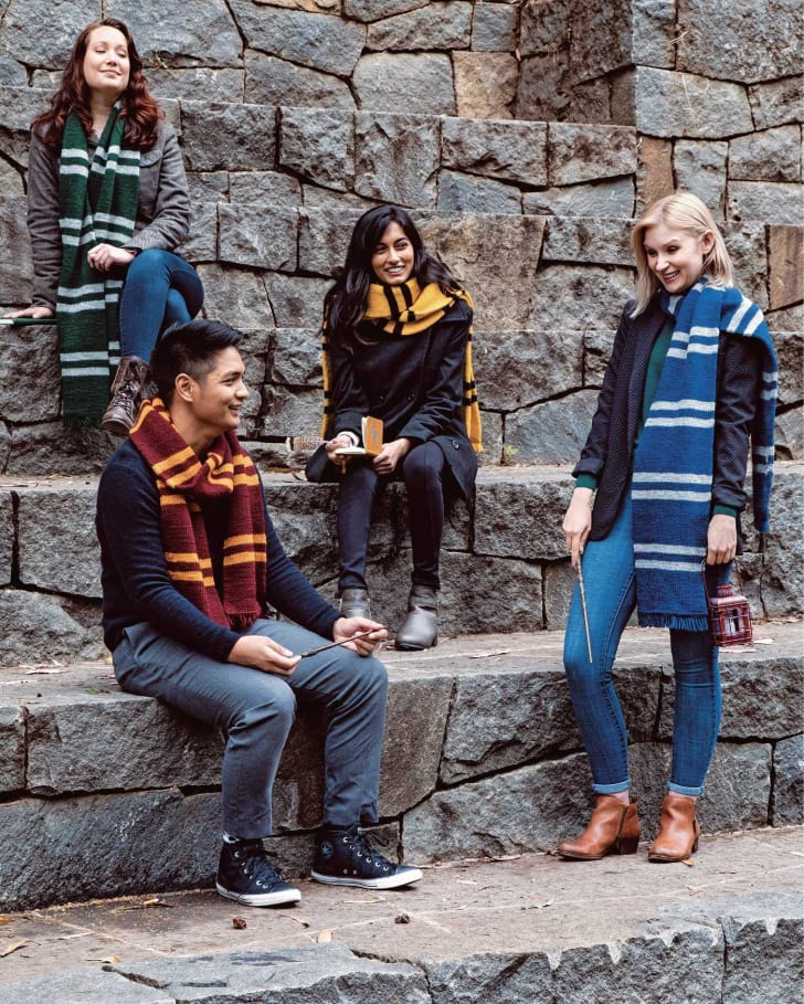 Knitted Harry Potter scarves.