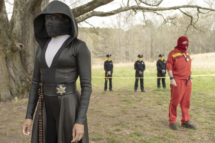 Regina King and Andrew Howard in HBO's 'Watchmen'
