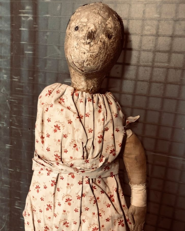 Scary antique doll.
