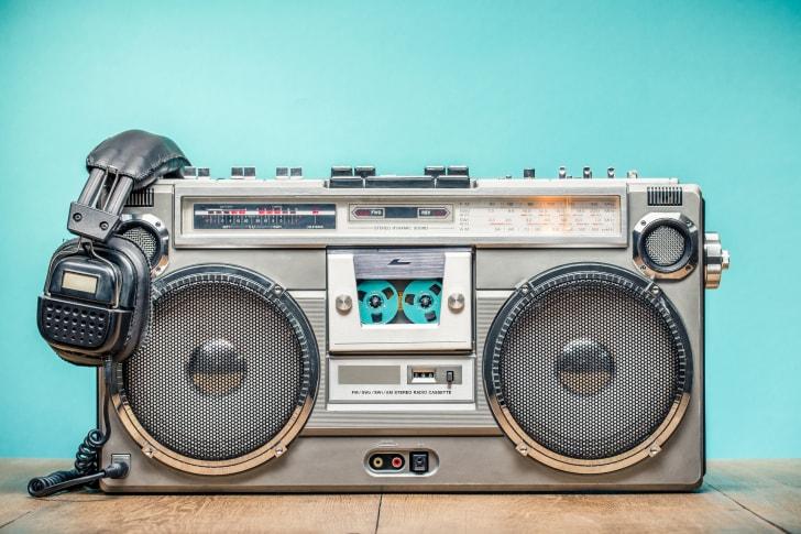 A retro boombox