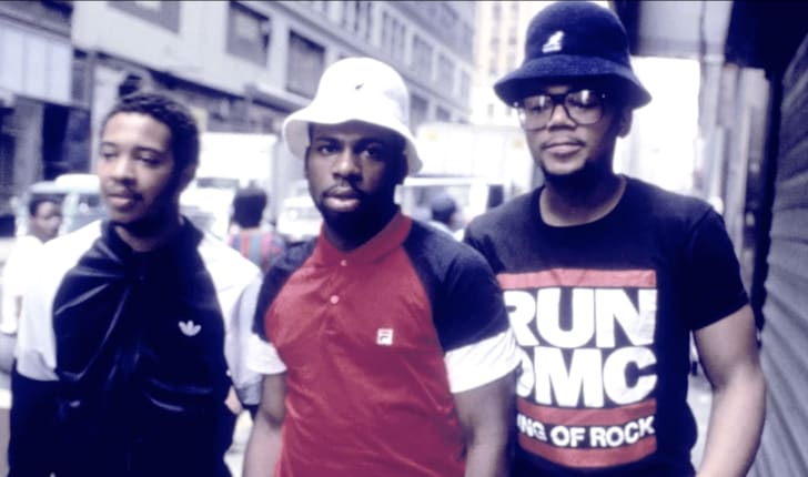 A promotional photo of Run DMC