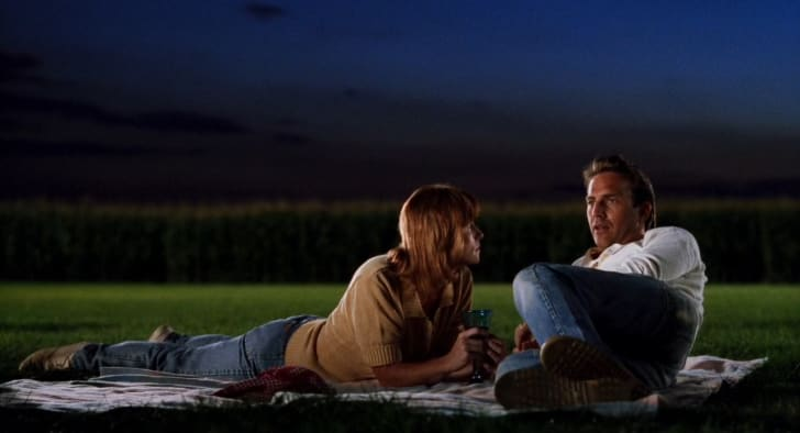 Amy Madigan and Kevin Costner star as Annie and Ray Kinsella in 'Field of Dreams' (1989)
