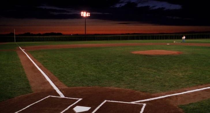 The 'Field of Dreams' baseball field
