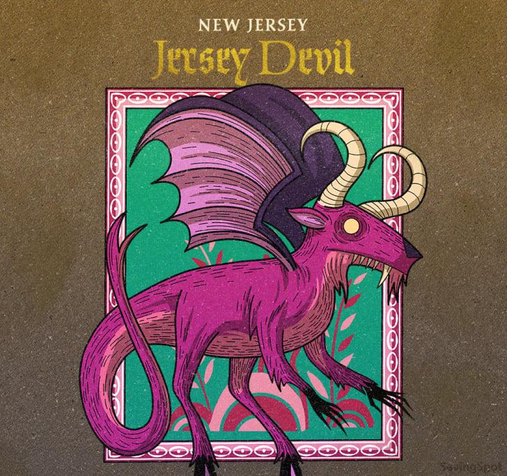 new jersey's jersey devil illustration