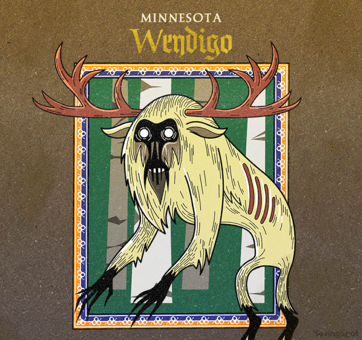 minnesota's wendigo illustration