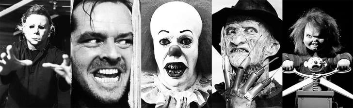 scary horror film villains