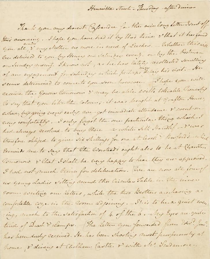 jane austen letter about the dentist