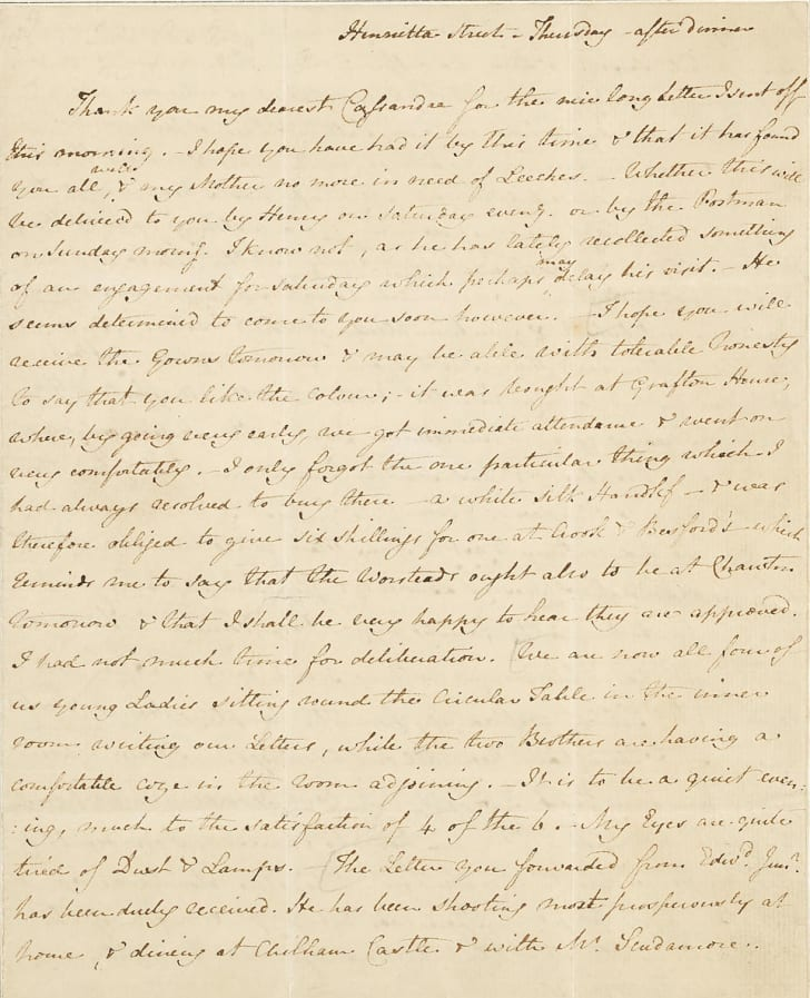 jane austen letter about the dentist