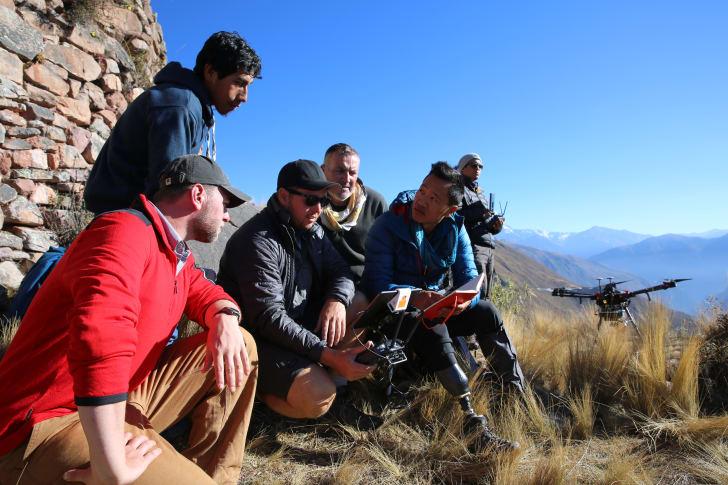 Albert Lin and crew in Peru