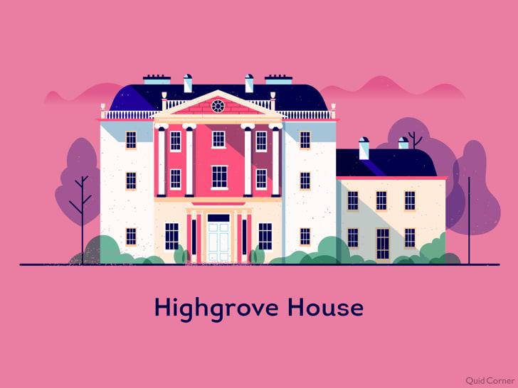 illustration of highgrove house