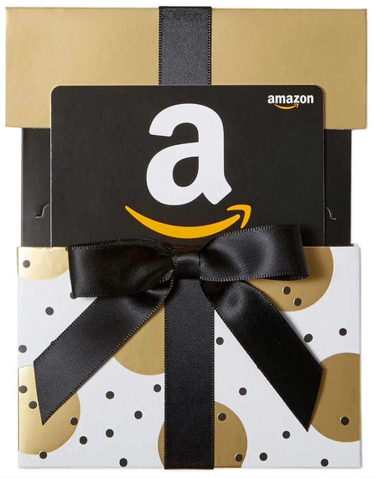 The Amazon Gift Card Reveal Box is pictured