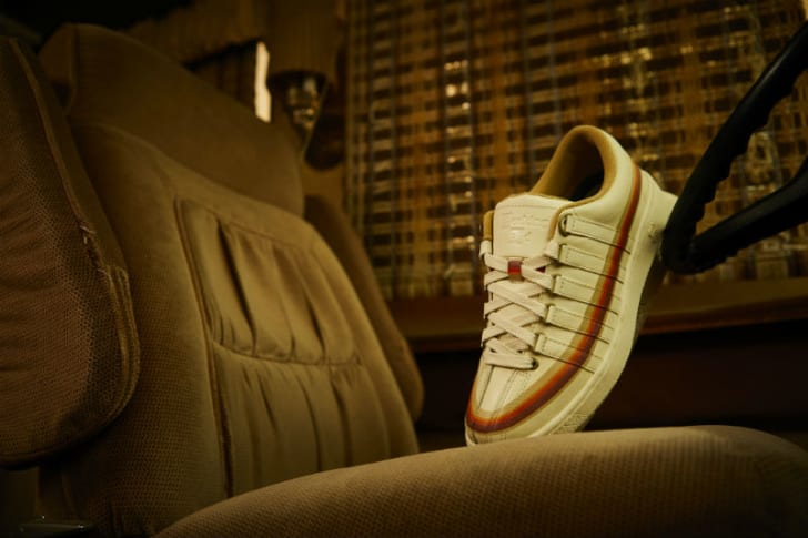 A K-Swiss Classic 2000 x 'Breaking Bad' Recreational Vehicle sneaker is pictured