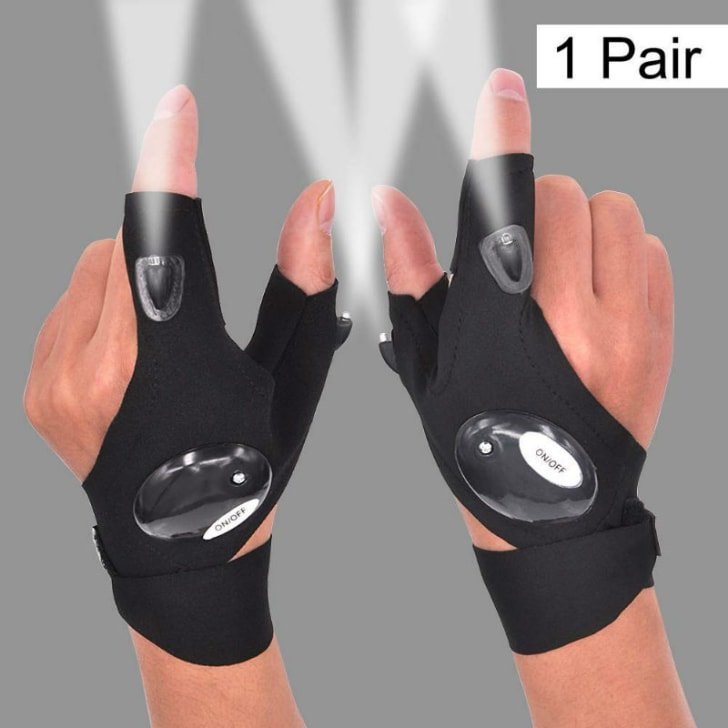 The Mylivell LED flashlight glove is pictured