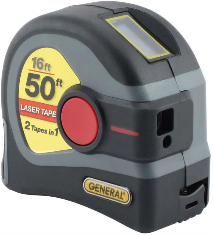 The General Tools LTM1 Laser Tape Measure is pictured