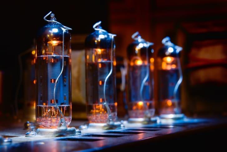 Glowing electron tubes