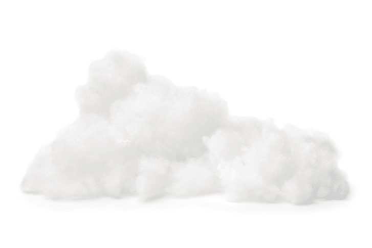 A pile of soft cotton against a white background