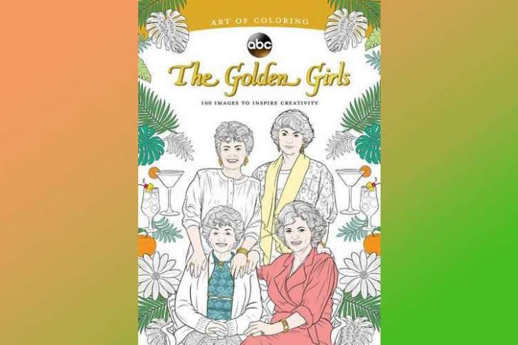 A Golden Girls coloring book gag gift.