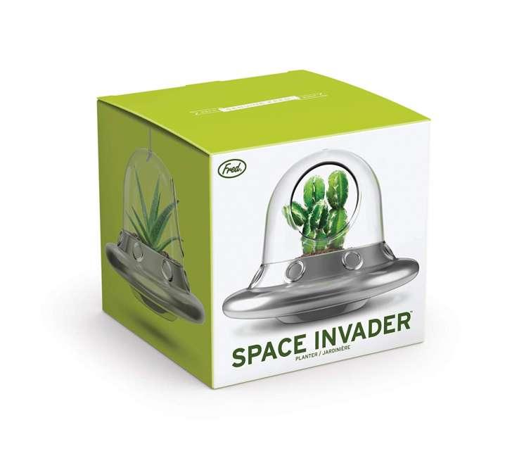 A UFO plant holder gag gift on Amazon.