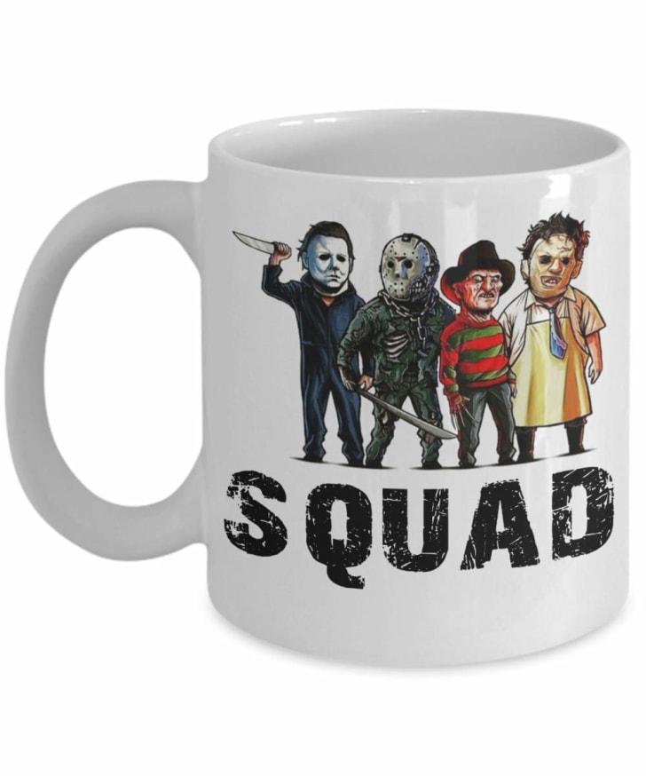 Horror icons mug.