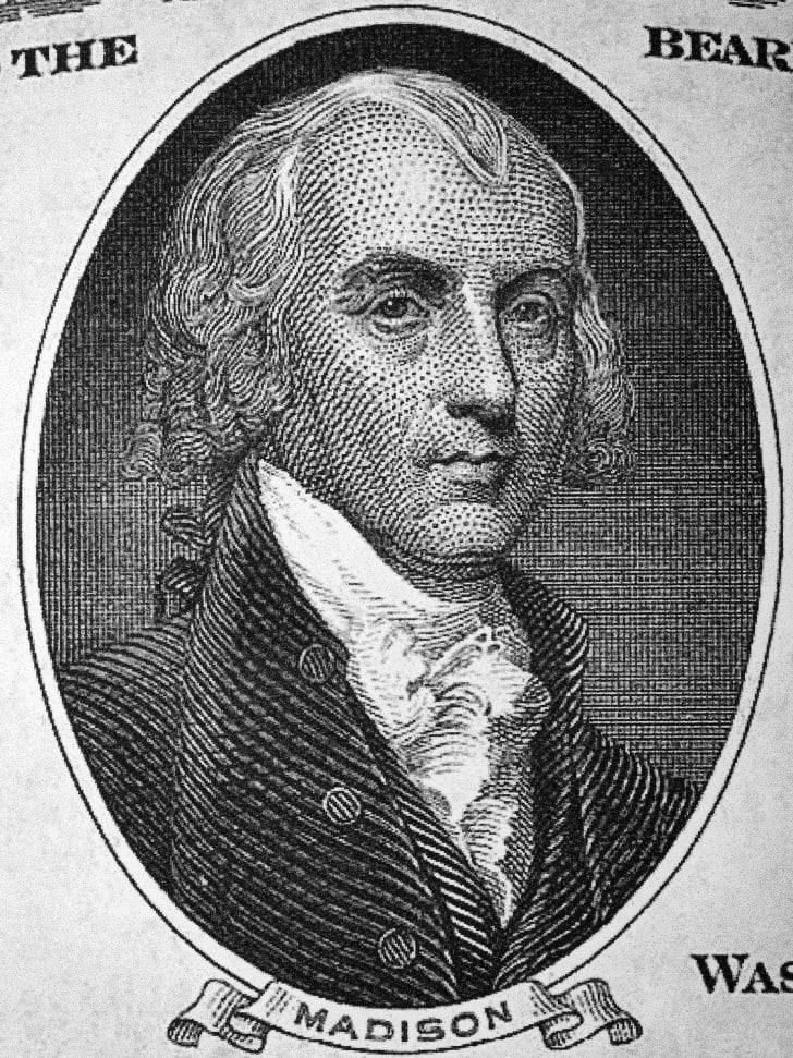 James Madison's portrait on US money.