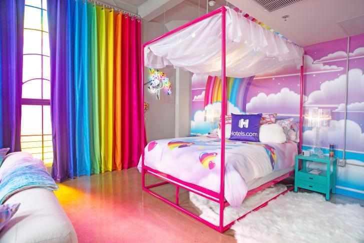 Lisa Frank bedroom.