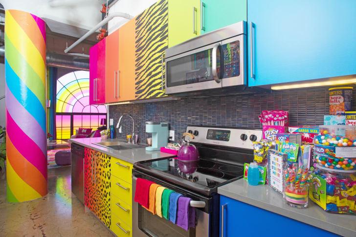 Lisa Frank kitchen.