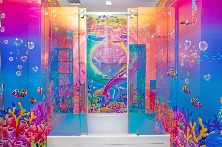 Lisa Frank bathroom.