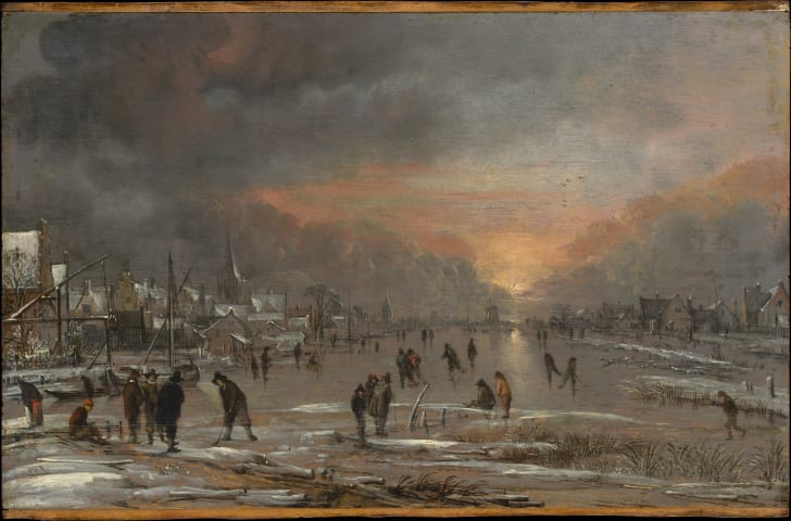 Sports on a frozen river