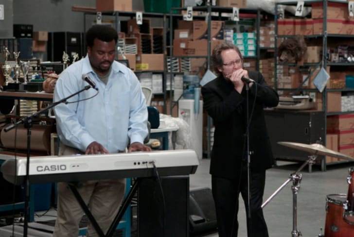 James Spader and Craig Robinson in The Office