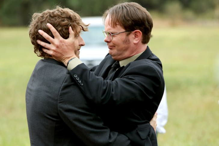 Thomas Middleditch and Rainn Wilson in 'The Office'