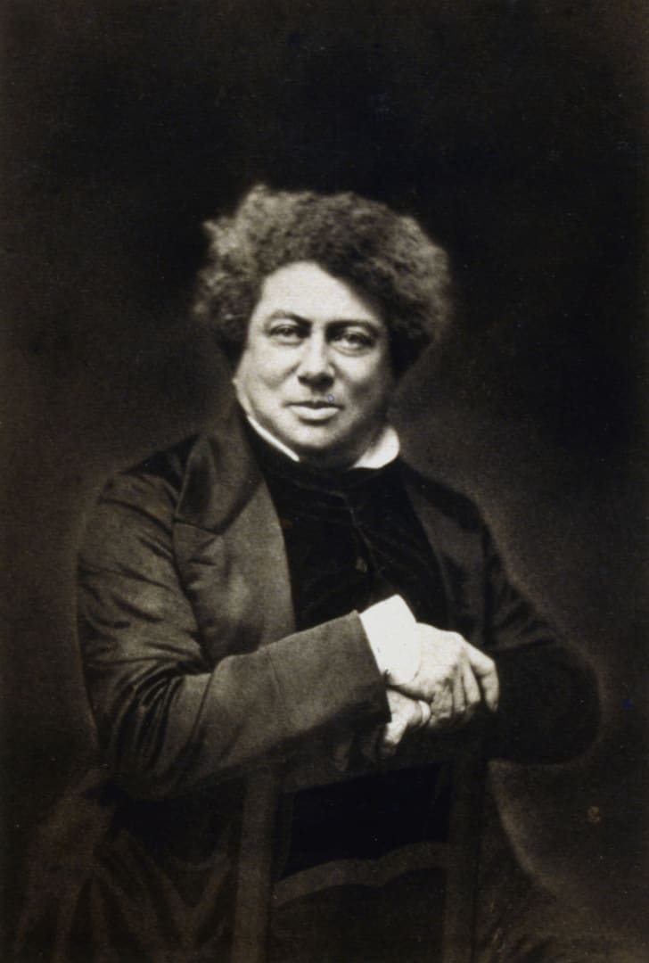 Portrait of novelist Alexandre Dumas