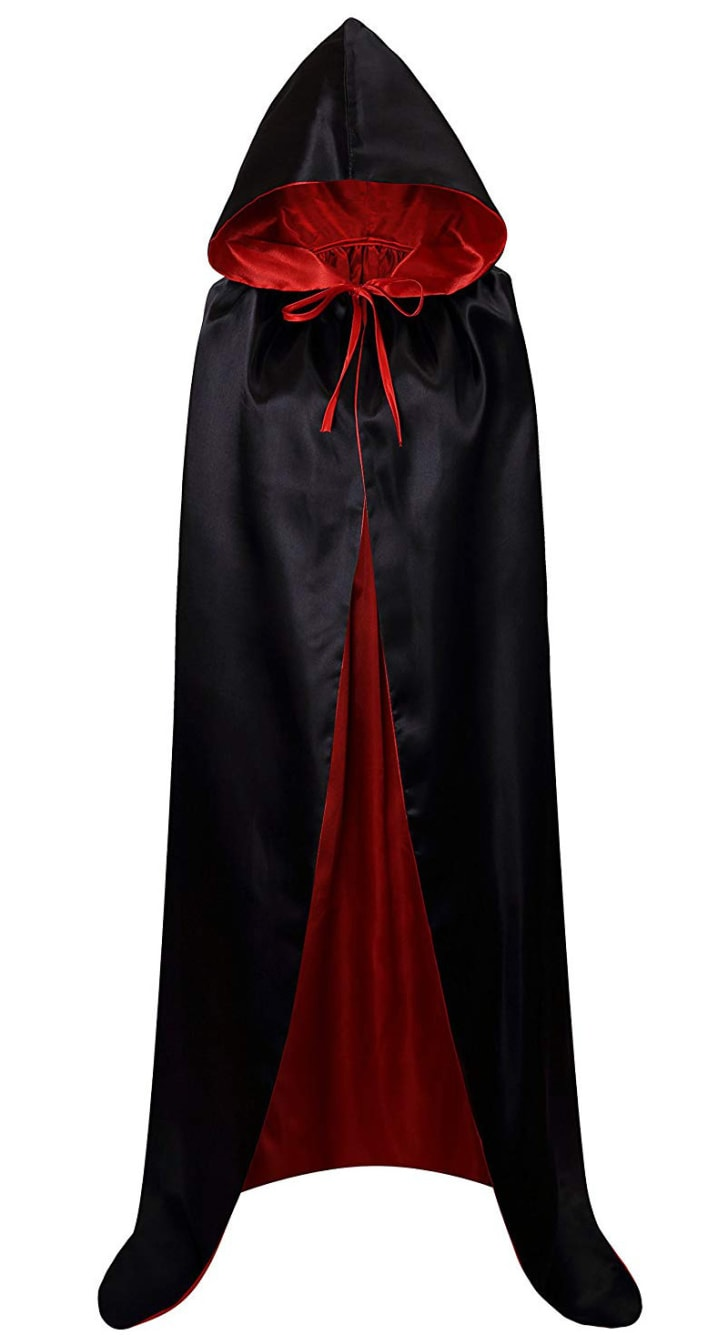 A vampire cloak on sale on Amazon.