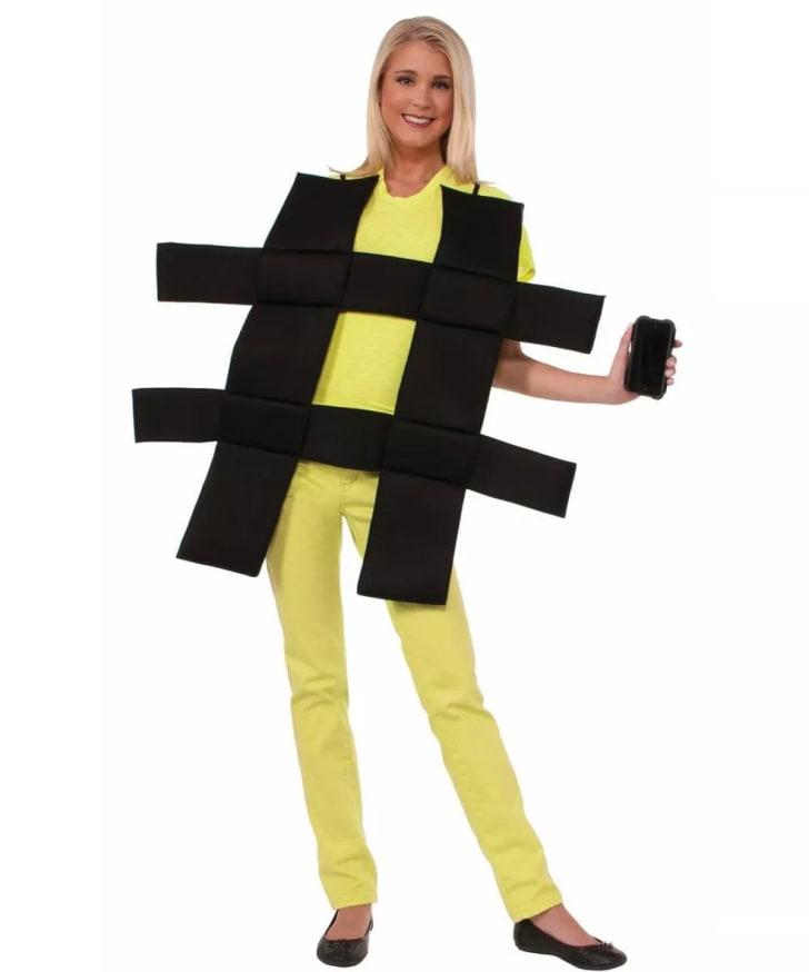 A hashtag Halloween costume on Amazon.
