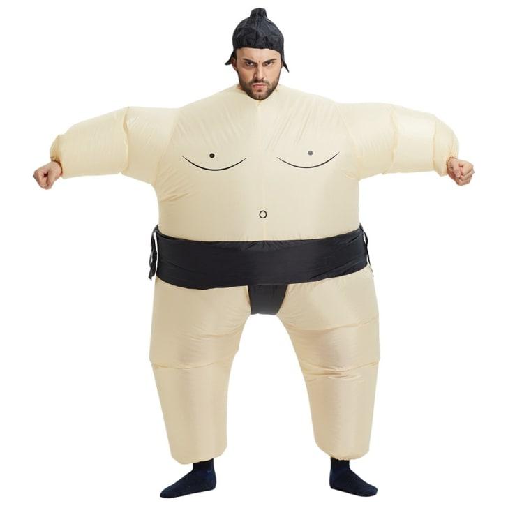 A sumo wrestler Halloween costume.