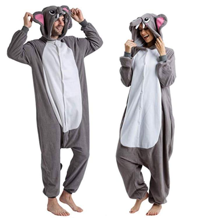 Elephant Onesie Halloween Costume.