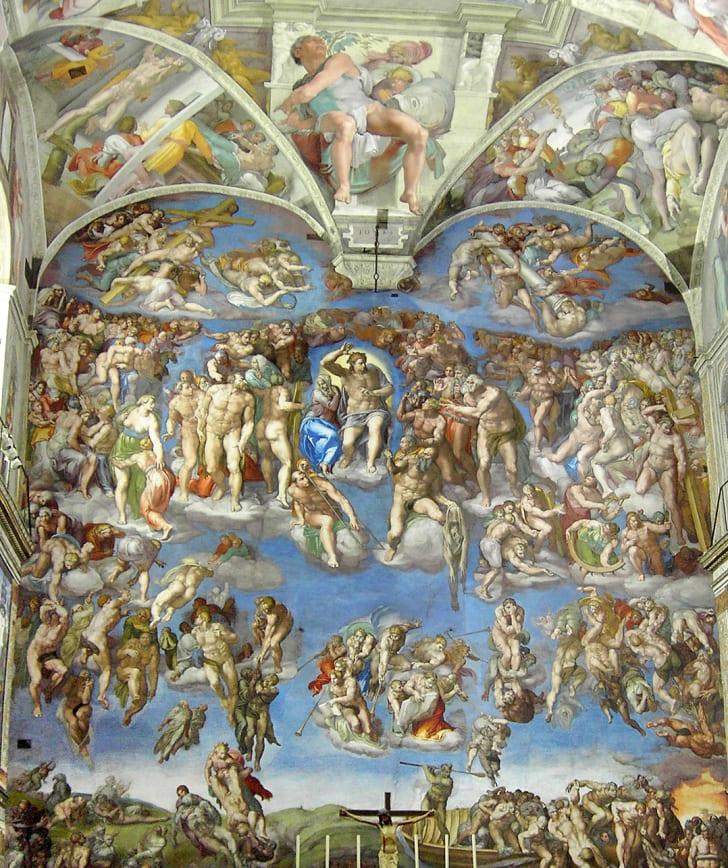 Last Judgment in Michelangelo's Sistine Chapel