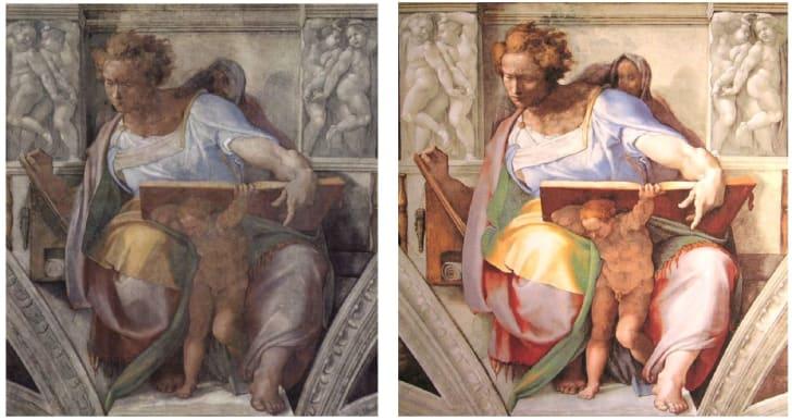 Restoration of Daniel in the Sistine Chapel