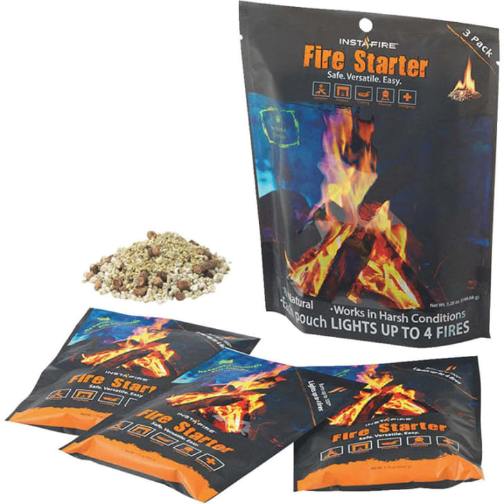 The InstaFire fire starting kit is pictured