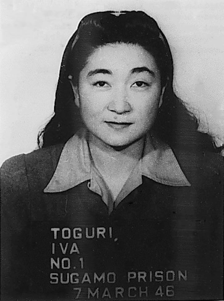Iva Ikuko Toguri D'Aquino; originally a mug shot, taken at Sugamo Prison on March 7, 1946