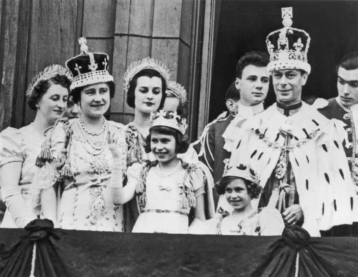 royal family at King George VI's coronation
