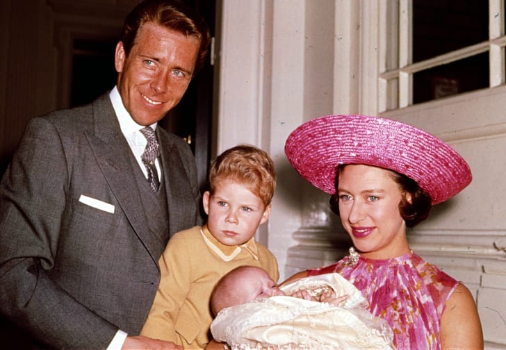 Princess Margaret with husband and children