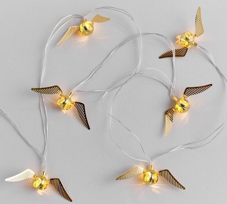 Golden snitch string lights.