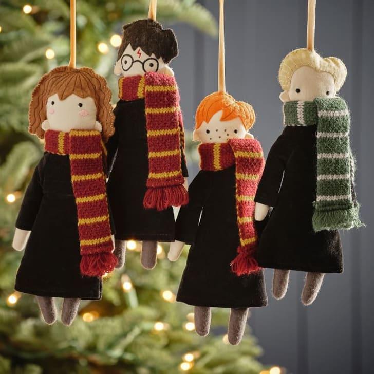 Harry Potter ornaments.