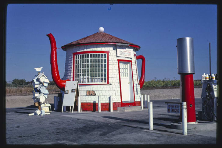 The Teapot Dome in Zillah, Washington is pictured