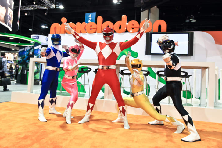 The Power Rangers at the San Diego Comic-Con.
