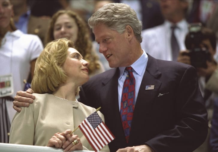 Hillary Clinton and Bill Clinton. 90 Facts About the '90s.
