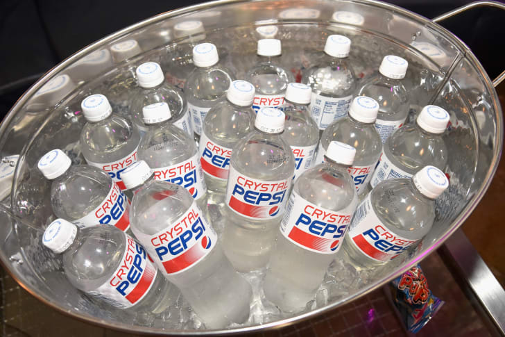 A tub full of Crystal Pepsi.