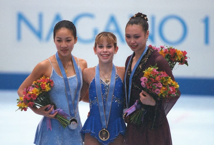 Tara Lipinski wins gold at the 1998 Winter Olympics.